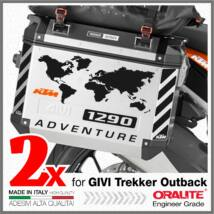 KTM 1290 ADVENTURE Fényvisszaverő fekete matrica GIVI TREKKER OUTBACK