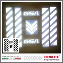BMW GSA fekete fényvisszaverő matrica R1200GS 1150 F800 F650 F700