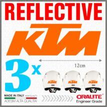 KTM Orange Fényvisszaverő sisak matrica 950 990 1050 1190 1290 SUPER ADVENTURE