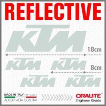 KTM Fehér fényvisszaverő matrica 950 990 1050 1190 1290 SUPER ADVENTURE