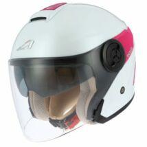 Astone DJ10 nyitott bukósisak fehér-pink
